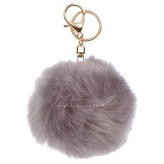 GREY FUR KEYCHAIN