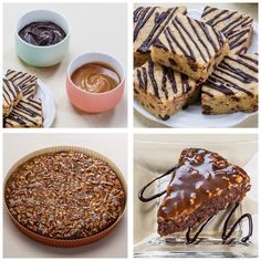 1812 House's Caramel and Chocolate Bourbon Sauces and Bourbon Blondie Bars