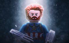 Télécharger fonds d'écran Captain America, 4k, 2017 film, la 3d, l'animation, Le LEGO Movie