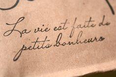 """Life is full of little pleasures"""