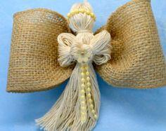SALE 15% Burlap Angel Gift for Him Wedding Decor by MaliLili