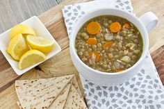 middle eastern lentil & veggie soup; not slowcooker, but looks very simple and delicious, not to mention once I have my dutch oven I'll be able to really have fun with stuff like this. Also vegetarian; what's not to love? Veggie Recipes, Soup Recipes, Vegetarian Recipes, Cooking Recipes, Cleanse Recipes, Chili Recipes, Cooking Ideas, Middle Eastern Lentil Soup, Slow Cooker Lentil Soup