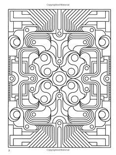 Amazon.com: Deco Tech: Geometric Coloring Book (Dover Design Coloring Books) (9780486475462): John Wik: Books