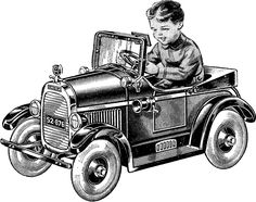 Vintage Pedal Car Image - Automobile! - The Graphics Fairy
