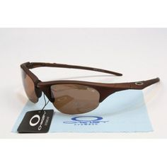 Imitation Oakley Half Jacket Sunglasses matte deep brown frames brown lens