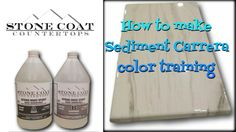 How to make  Sediment Carrera counter top color training