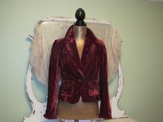 Gorgeous Velvet Jacket fully lined by SownThreads on Etsy.