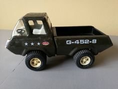 Vintage Tonka G-452_8 American Military Pickup Truck. Vintage Tonka Green Pickup G-452-8. Vintage Tonka Pickup Truck, Military G-452-8 by OnyxCollectables on Etsy