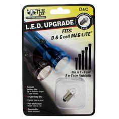 C & D Cell Maglite LED Upgrade Kit, White LED. $11.99