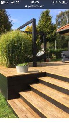 Garten terrasse Stairs in the house, garden dreams - # dreams # garden # insider # stairs # terraces Pergola Patio, Backyard Patio, Backyard Landscaping, Patio Decks, Pergola Kits, Wood Pergola, Pergola Ideas, Deck Hammock Ideas, Garden Decking Ideas