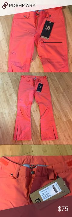"""NWT Flylow women's """"sassyfrass"""" ski/snowboard pant NWT. Size M. Color: Lotus. Find more details here: https://shop.flylowgear.com/products/sassyfrass-pant?variant=47189503044 Purchased for $184  Photos make them look more pink than they are. They are more of an orange/coral color. flylow Pants"""