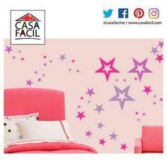 Para las adolescentes en casa, una opción decorativa para su habitación es nuestro vinil modelo Estrellas