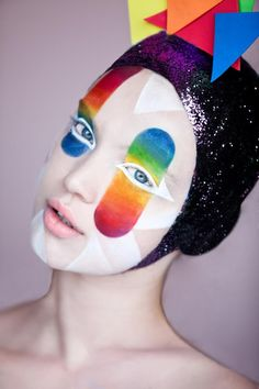 colorful-avant garde beauty and makeup #face #extreme #experimental #paint #make #up