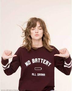 Blusa de Moletom No Battery - Compre Online | DMS Boutique
