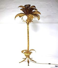 FROM THE RIGHT BANK | Today's Crush: Brass Palm Tree Floor Lamp
