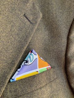 Pocket Square Colorful Cotton Print Handkerchief Men Cartoon | Etsy