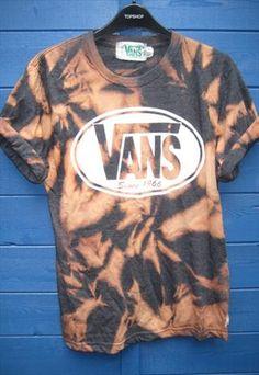 Festival  acid wash vans tshirt indie grunge trash skater from ladystardust-2013
