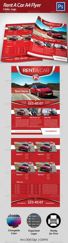 Rent A Car Business Flyer Business flyers, Text fonts and Vector - car for sale flyer template