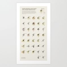 Famous Writers' Sleep Habits and Literary Productivity Art Print by Accurat | Society6