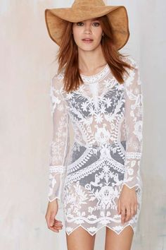 Call Out Lace Dress  nastygal.com