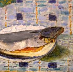 """Pierre Bonnard (1867-1947) """"Poisson sur une assiette"""""""
