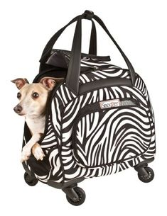 Snoozer Cooper 4Wheeled Pet Bag Zebra -- Click image to review more details.