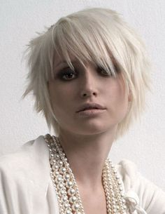 Short And cute. Have a feeling my hair would not look like this.