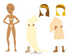 Free Greek Lady with Laurel Paper Doll