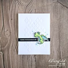 RBergfeld Card Designs: CASology: Believe - Mama Elephant, Me and My Dragon, Dragon Wishes - Simon Says Stamp, Stacked Diamonds