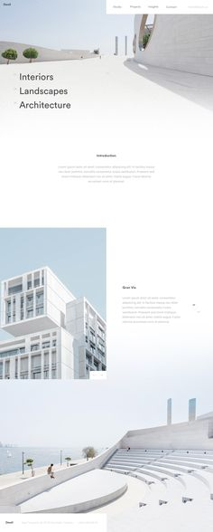 Dwell minimal homepage concept