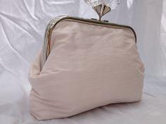 Silk and crystal purse