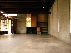 Schindler Studio House, West Hollywood, CA Schindler House, California Architecture, Ireland Homes, Polished Concrete, Entry Foyer, Mid Century House, Commercial Interiors, Concrete Floors, Bauhaus