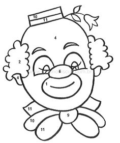clown coloring pages | coloring picture of a badly