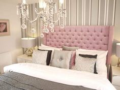 View the designs of Headboards by Design - Manufacturer of upholstered made to meaure contemporary luxury headboards Florida Home, Headboards, Furnitures, Master Bedroom, Shabby, Indoor, Contemporary, Luxury, Chic