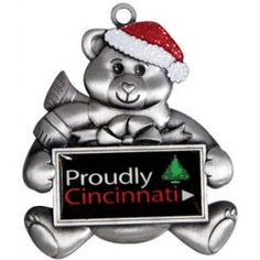 Die-Cast Metal Teddy Bear Shaped Christmas Ornaments with Rush Production