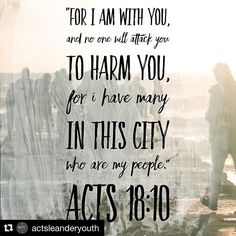 #Repost @actsleanderyouth with @repostapp  #100BibleVerses Sometimes life is lonely. As followers of Christ we know God is with us. He has promised to never leave us. We can take great comfort knowing we are truly never alone. It often takes courage to live our lives as Christians in an unbelieving world. We may not have a large number believers in our cities but we have the Church fellow believers throughout the world. Take courage my friends God is with us! How can you pray for other…