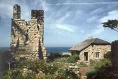 Robinson Jeffers Tor House Foundation * 26304 Ocean View Ave * Carmel, CA . about hours from NewPort Beach . (Ghost Adventures featured this on a 2012 episode) Stone Cottages, Cottages By The Sea, Stone Houses, Robinson Jeffers, House Foundation, Carmel By The Sea, Cottage Design, Beautiful Architecture, Adventure Is Out There
