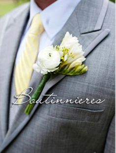 Boutonnieres made by Designs by Mayumi.