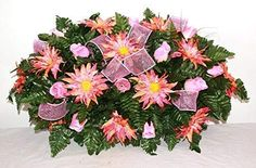 XL Artificial Silk Flower Cemetery Tombstone Grave Saddle Crazyboutdeco Cemetery Flowers Lavender Flowers, Real Flowers, Paper Flowers, Artificial Coral, Artificial Silk Flowers, Cemetery Flowers, Grave Flowers, Grave Decorations, Sympathy Flowers