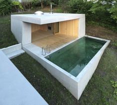 Small outdoor concrete pool, Austria