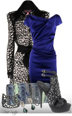 A fashion look from December 2012 featuring short blue dress, Talbot Runhof and indian jewelry. Fashion Ideas, Fashion Outfits, Womens Fashion, Fashion Tips, Talbot Runhof, Classy Outfits, Design Your Own, Outfit Ideas, Formal Dresses