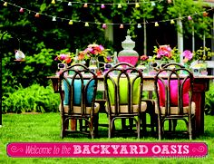 Relish in all of your craftiness and enjoy your backyard oasis!