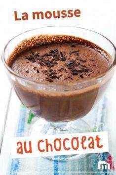 Mousse au chocolat à l'ancienne /// #mousse #chocolat #dessert #gouter #marmiton #recettes #cuisine #rapide #mousse