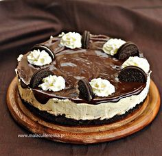PROSTY SERNIK z ciasteczkami OREO | Mała Cukierenka | Bloglovin' Oreo Cheesecake, Food Cakes, Sweet Cakes, No Bake Desserts, Tiramisu, Food To Make, Cake Recipes, Sweets, Cooking