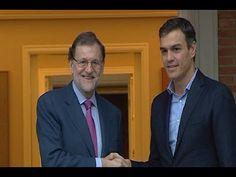 Reencuentro del presidente del Gobierno, Mariano Rajoy, y el secretario general del PSOE, Pedro Sánchez un año después.  http://www.ledestv.com/es/noticias/noticias-de-espana/video/lluvia-de-flashes-en-el-reencuentro-de--mariano-rajoy-y-pedro-sanchez-/3648