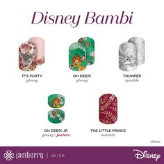 Disney Collection by Jamberry.  Disney Bambi.  Disney Thumper. Jamberry Nail Wraps.