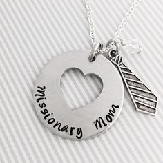 Customizable Missionary Mom or Missionary Girlfriend - Hand Stamped LDS Necklace by Eight9 Designs by Eight9Designs on Etsy https://www.etsy.com/listing/216033133/customizable-missionary-mom-or