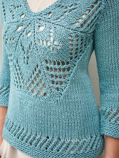 Schwaan by Norah Gaughn. So pretty. Love the open lace work.