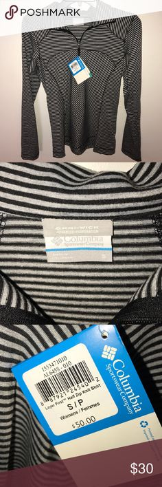 Columbia omni-shade spf 40 sun protection pullover Columbia zip pullover size small. Long sleeves. This shirt is a thin Tshirt like soft fabric. Perfect for spring and fall. Columbia Tops
