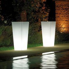 Vase de jardin en polypropylène lumineux POLLY 3